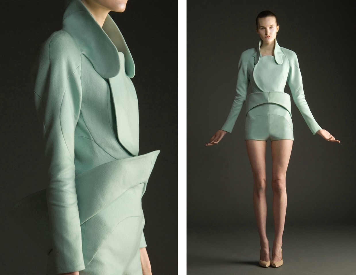 Opalescent Thesis Collection On Risd Portfolios Fashion Design Sculptural Fashion