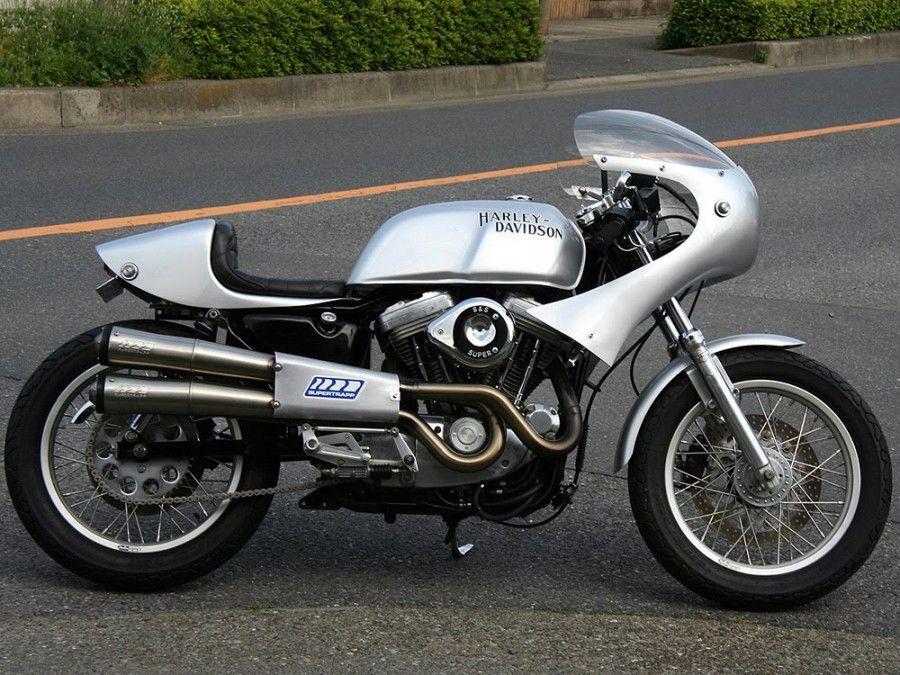 Motographite Half Fairing Harley Davidson Sportster Cafe ...  Motographite Ha...