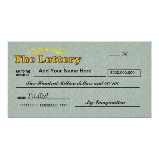 Funny Giant Lottery Check Poster