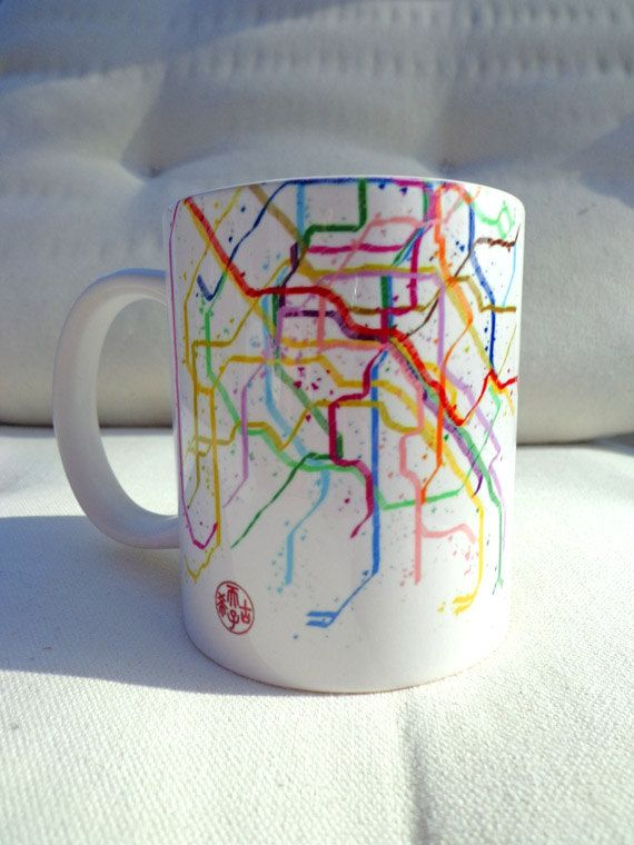 France Paris Subway Metro Map Paris On The Go By Afrochadesign