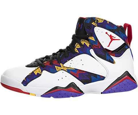 f3eab7df2dcdaf Nike Jordan Men s Air Jordan 7 Retro White Unvrsty Rd Blk Brght Cnc  Basketball Shoe 11 Men US