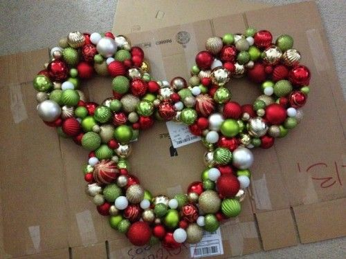 make your holiday merry and bright with these disney diy wreath ideas - Mickey Mouse Christmas Wreath