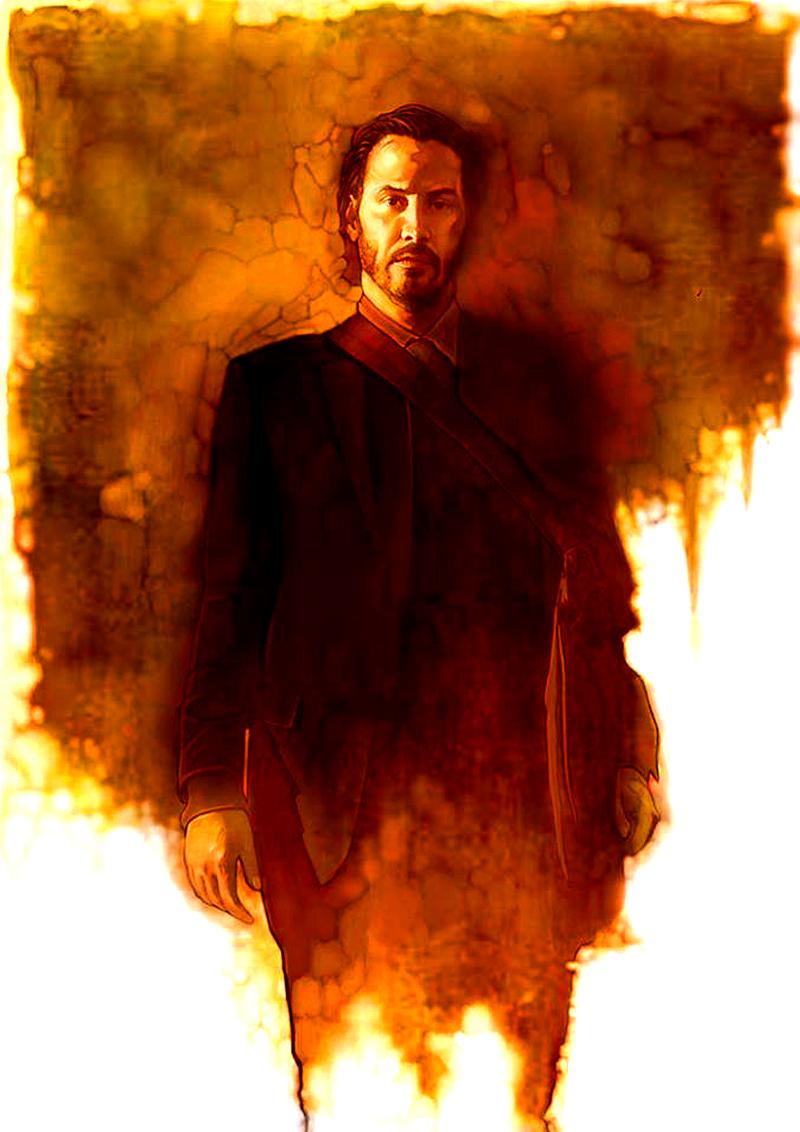 Keanu Reeves Returns As John Wick Keanu Reeves John Wick Matte Painting