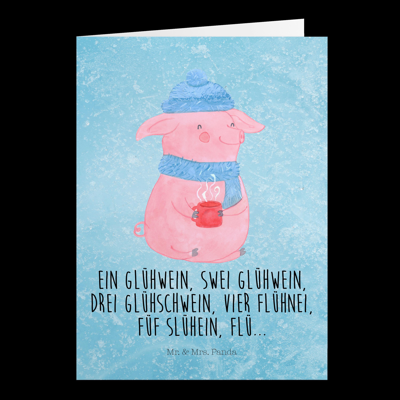 Grußkarte Lallelndes Glühschwein