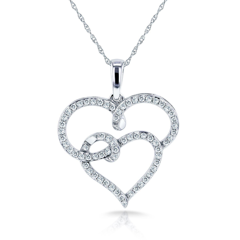 Annello By Kobelli 10K White Gold 13Ct Tdw Diamond Interlocking