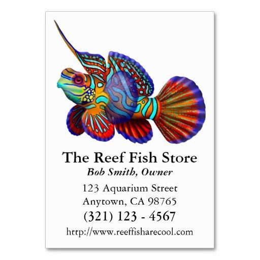 Mandarin dragonet goby fish business card fishing business cards mandarin dragonet goby fish business card colourmoves Gallery