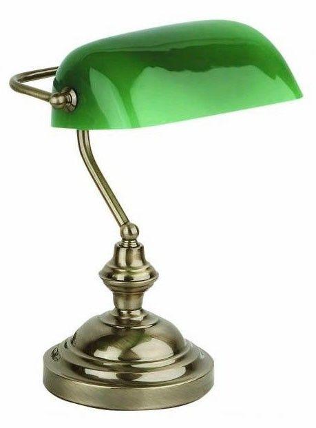 e92075034 Lámpara de escritorio clásica BANQUERO - Oro viejo #estilovintage #vintage  #decoración #luminación #lámparas #decoracióndelhogar #diseño  #diseñodeinteriores