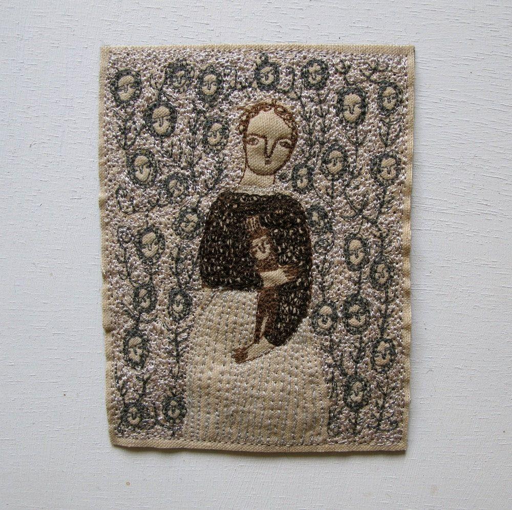 season of memories - embroidery artwork. £90.00, via Etsy.