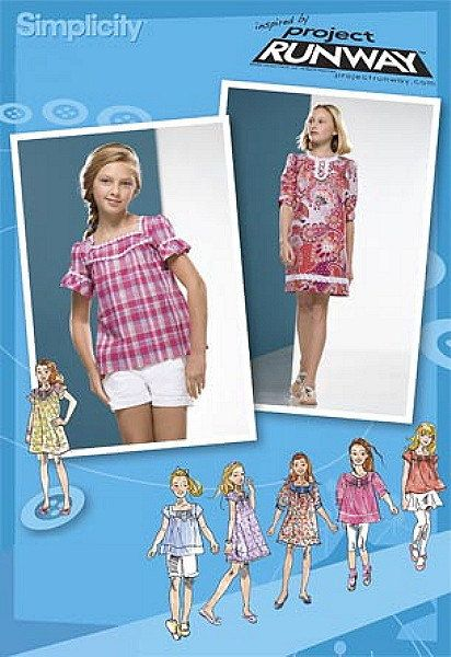 Project Runway Girls Dress Blouse Sewing Pattern By Dixiemar