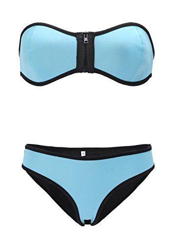 LOUISE MAELYS Sexy Strapless Zipper Top Neoprene Bikini Swimsuit Swimwear Set Blue LOUISE MAELYS http://www.amazon.com/dp/B010X8MKW4/ref=cm_sw_r_pi_dp_KyxZvb1GN0R63