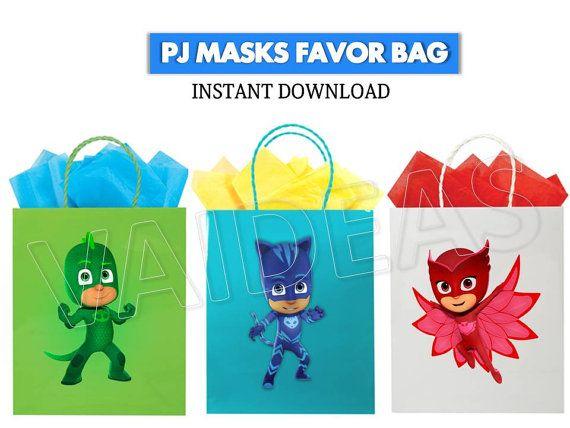 Printable PJ MASKS Favor Bag Pj Masks Printables Pj By VAIDEAS