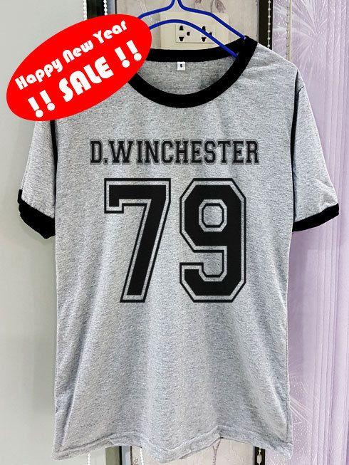 Manga de camisa de Winchester Dean sobrenatural corta dos tono