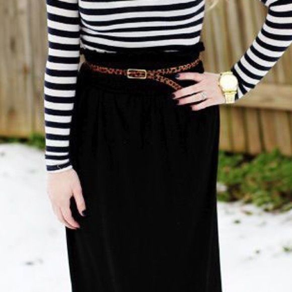 Petite Black Maxi Skirt Classic black maxi skirt. Petite small. Staple piece. LOFT Skirts Maxi