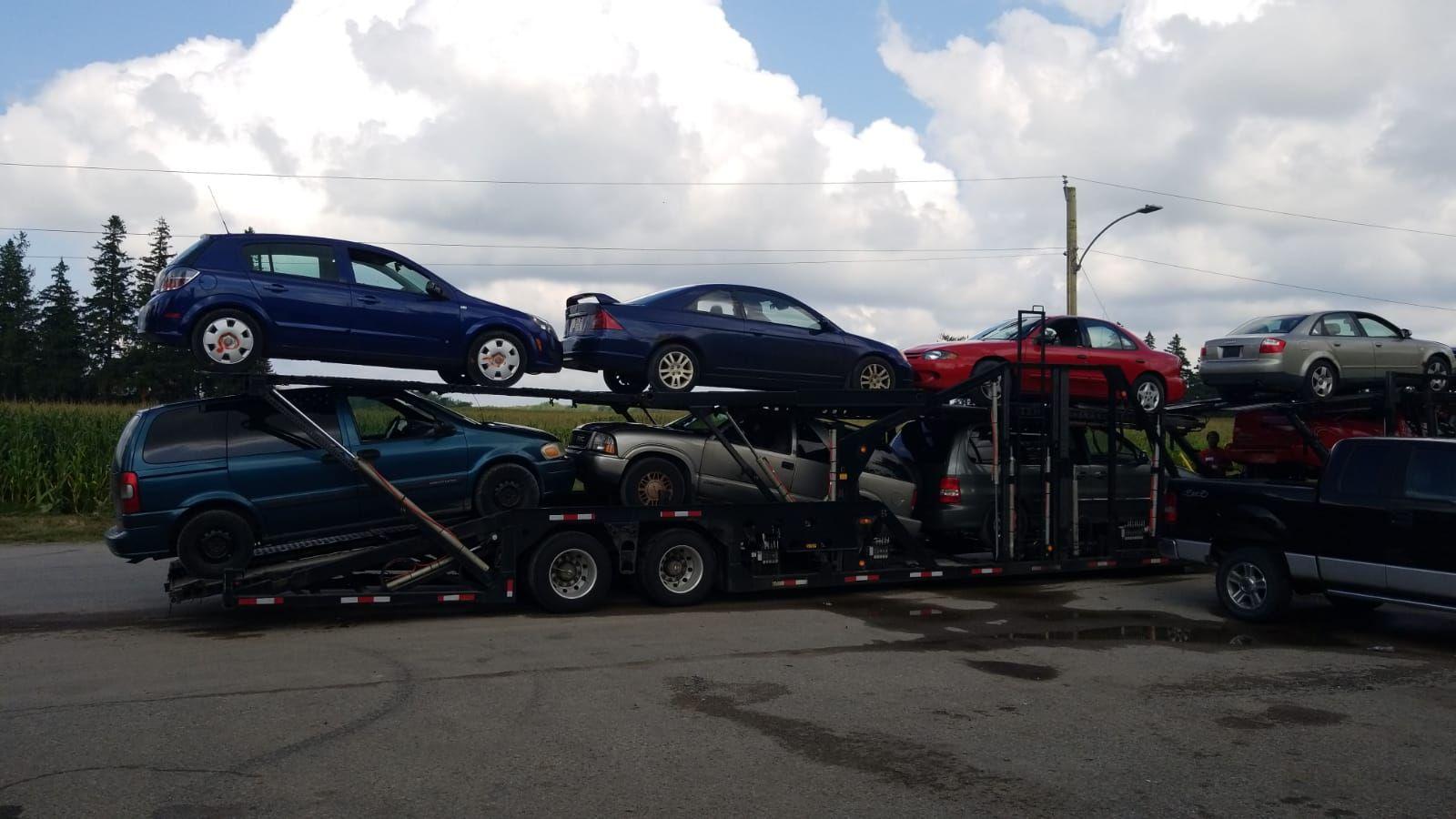 Cars hauling to scrap yard Scrap Car Removal Cash For