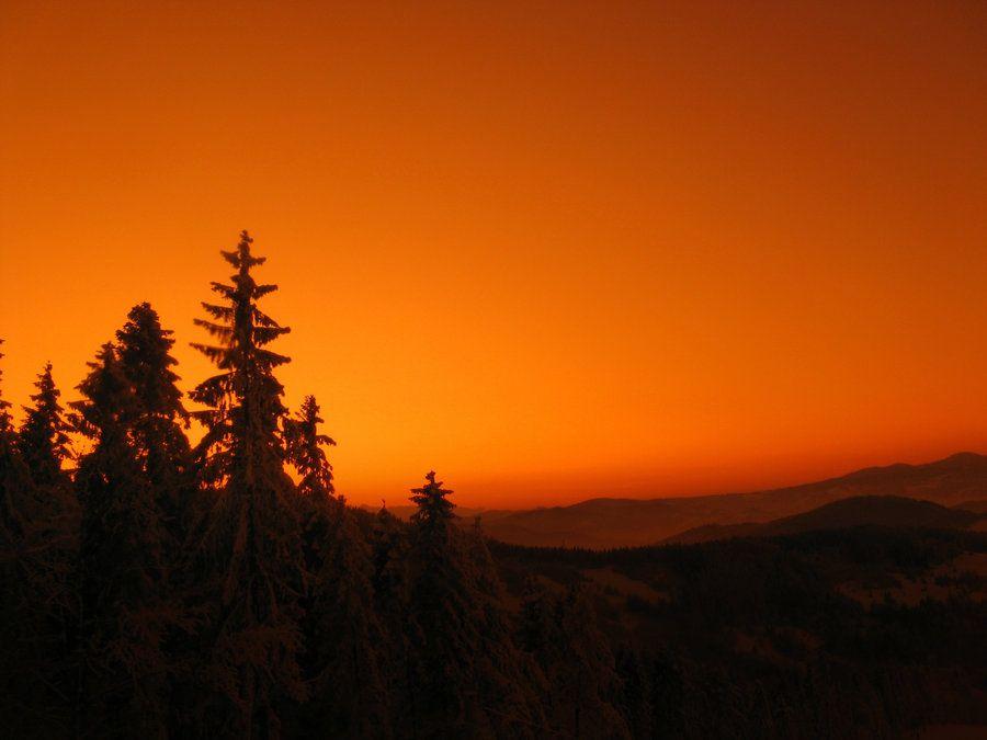 Orange mountains Orange nature Pinterest - fototapeten f r k che