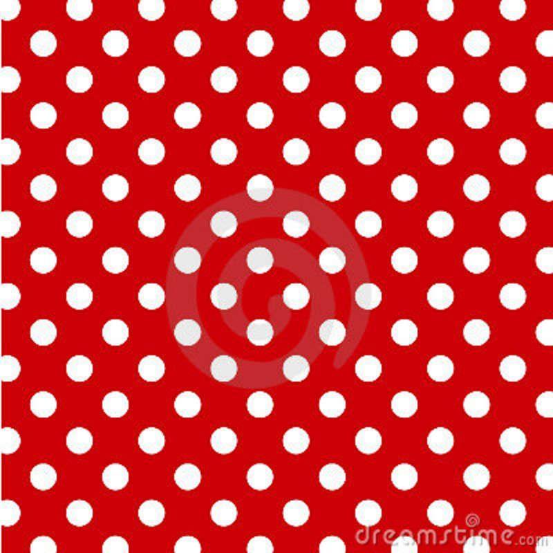 Big White Polka Dots Red Seamless Background Polka Dot Background Seamless Background Polka Dots