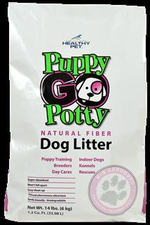Puppy Go Potty Dog Litter Natural Fibre Alternative Solution