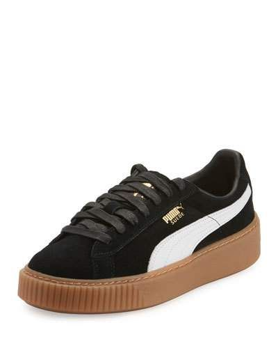 Puma Shoes for Women at Neiman Marcus. Basket Suede Platform Creeper 414cf68d1