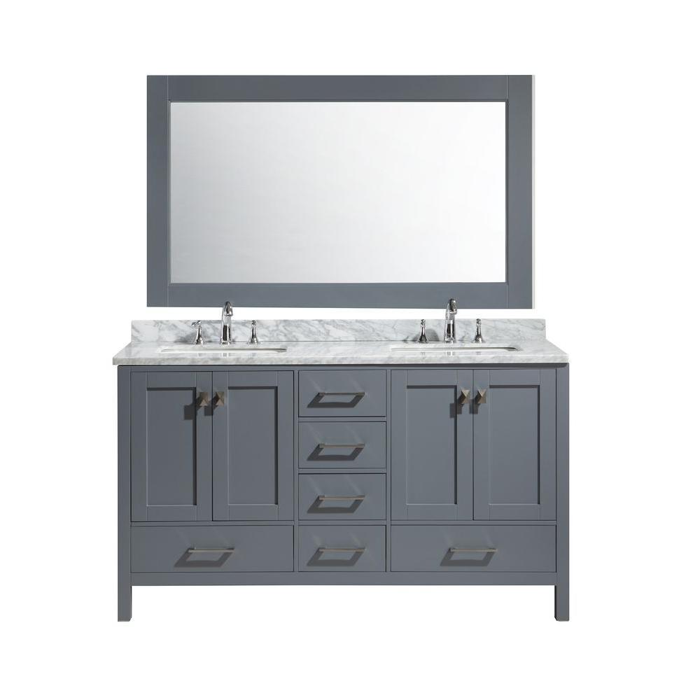 Design Element London 61 In W X 22 In D X 36 In H Vanity In