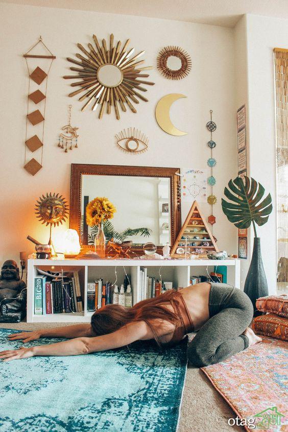 چگونه یک اتاق مراقبه و مدیتیشن برای خود ایجاد کنید In 2020 Meditation Room Decor Yoga Room Design Meditation Room Design