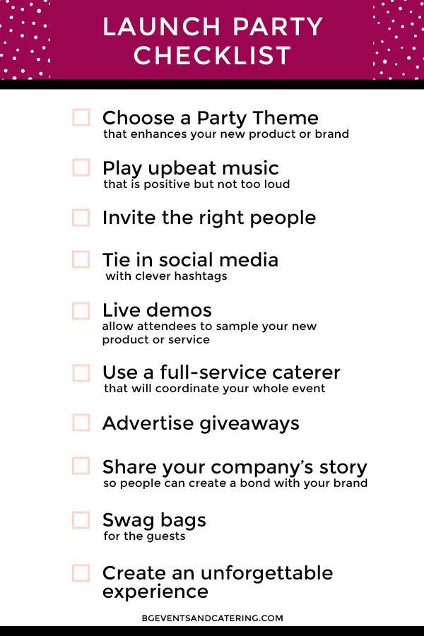 We have gathered 10 key items to make sure your event has a - introduction letter for new product