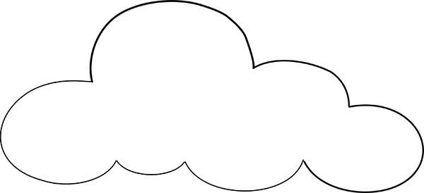 clouds outline coloring page