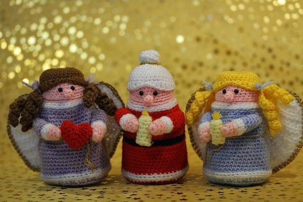 Häkelanleitung Ü-Engel, Ü-Oma & Ü-Weihnachtsfrau   üeier   Pinterest ...