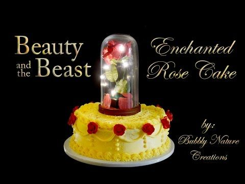 beauty and the beast rose wedding cake topper and the beast enchanted cake tutorial recipe 11245