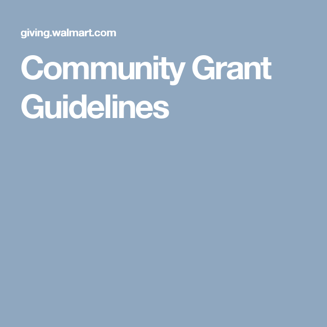 Community Grant Guidelines Community Grants Apply For Grants Grants