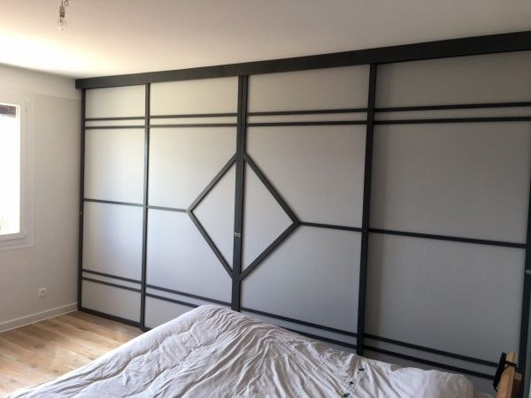 cloison coulissante en 4 vantaux cloison japonaise. Black Bedroom Furniture Sets. Home Design Ideas