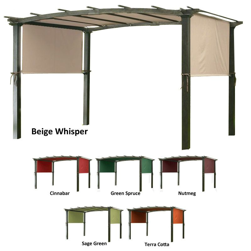 Garden Winds Universal Replacement Canopy for Pergola Structures Sage Green