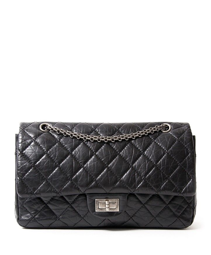 Vintage Authentic Chanel Black Double Flap Reissue, Size 227. Buy authentic  secondhand Chanel bags at the right price at LabelLOV vintage webshop. e6fafd728e