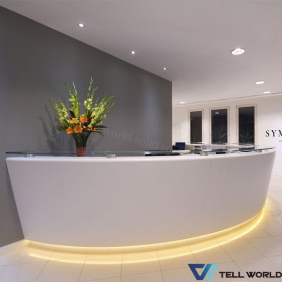 Hot Item Modern Spa Counter Table Front Desk White Spa Reception Desk In 2020 Reception Desk Spa Modern Spa Reception Desk