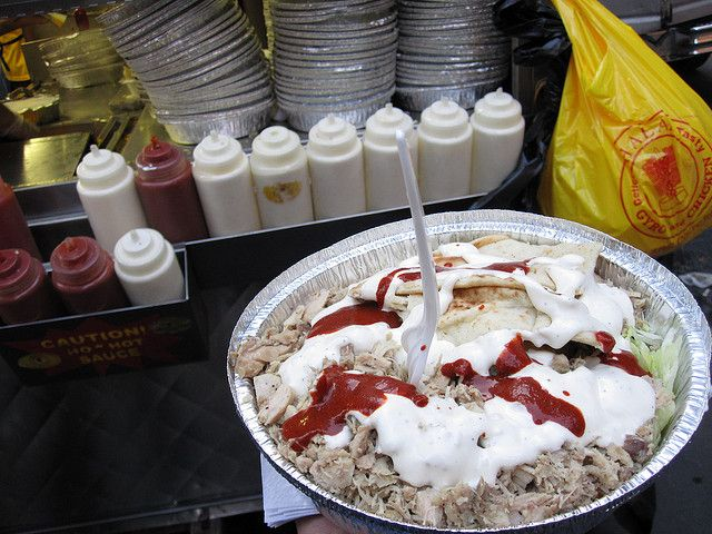 Nyc S Halal Guys Are Bringing Their Gyros And Special White Sauce To Socal Halal Recipes White Sauce Recipes Food