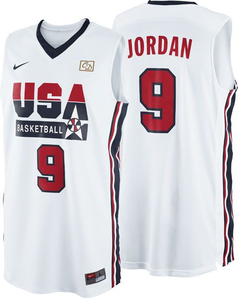 the latest e1b8a 8ecf8 Michael Jordan Dream Team #9 '92 Barcelona Olympics Nike USA ...