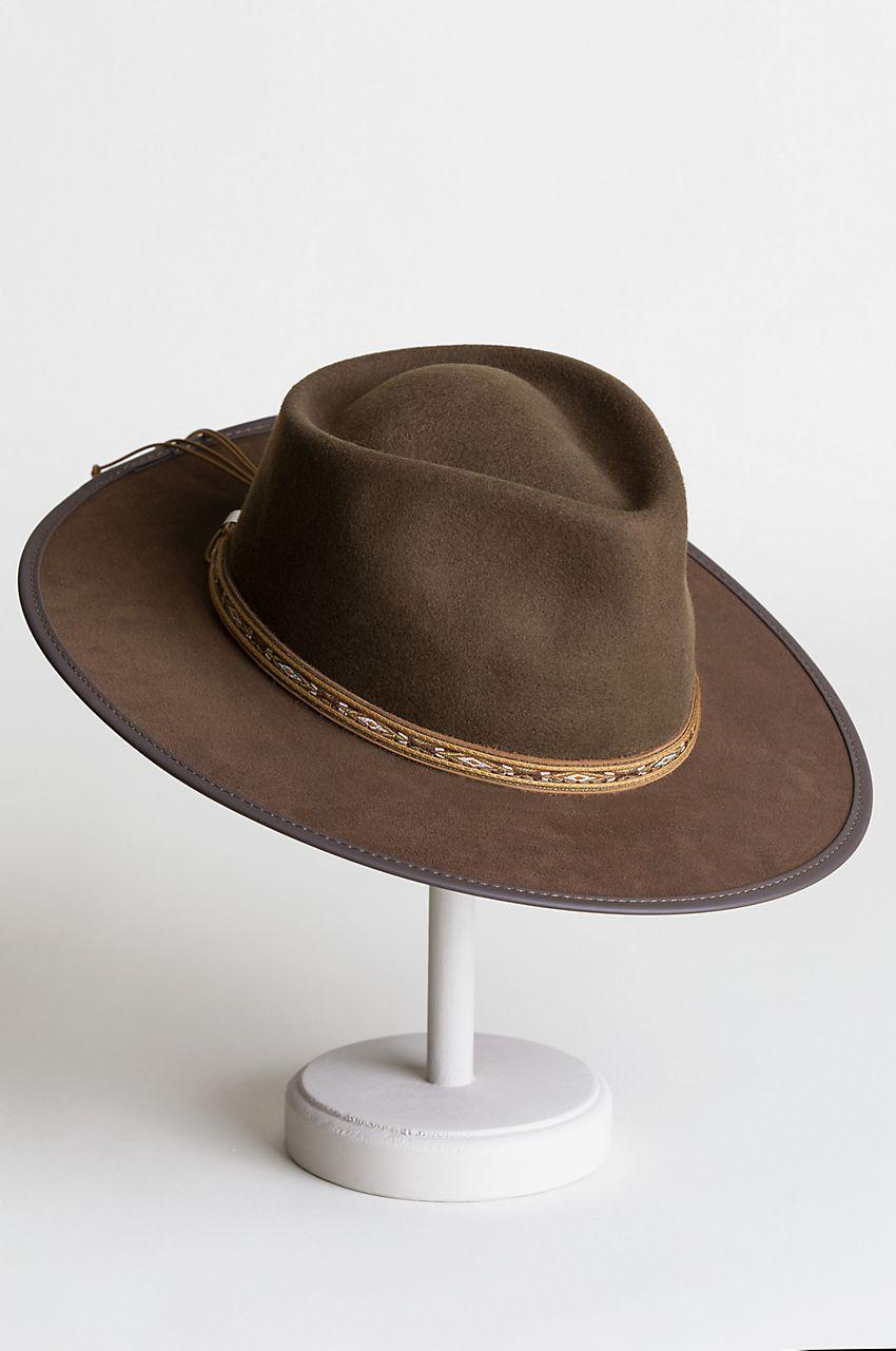 4457febd20e Bushwick Wool Felt Western Fedora Hat