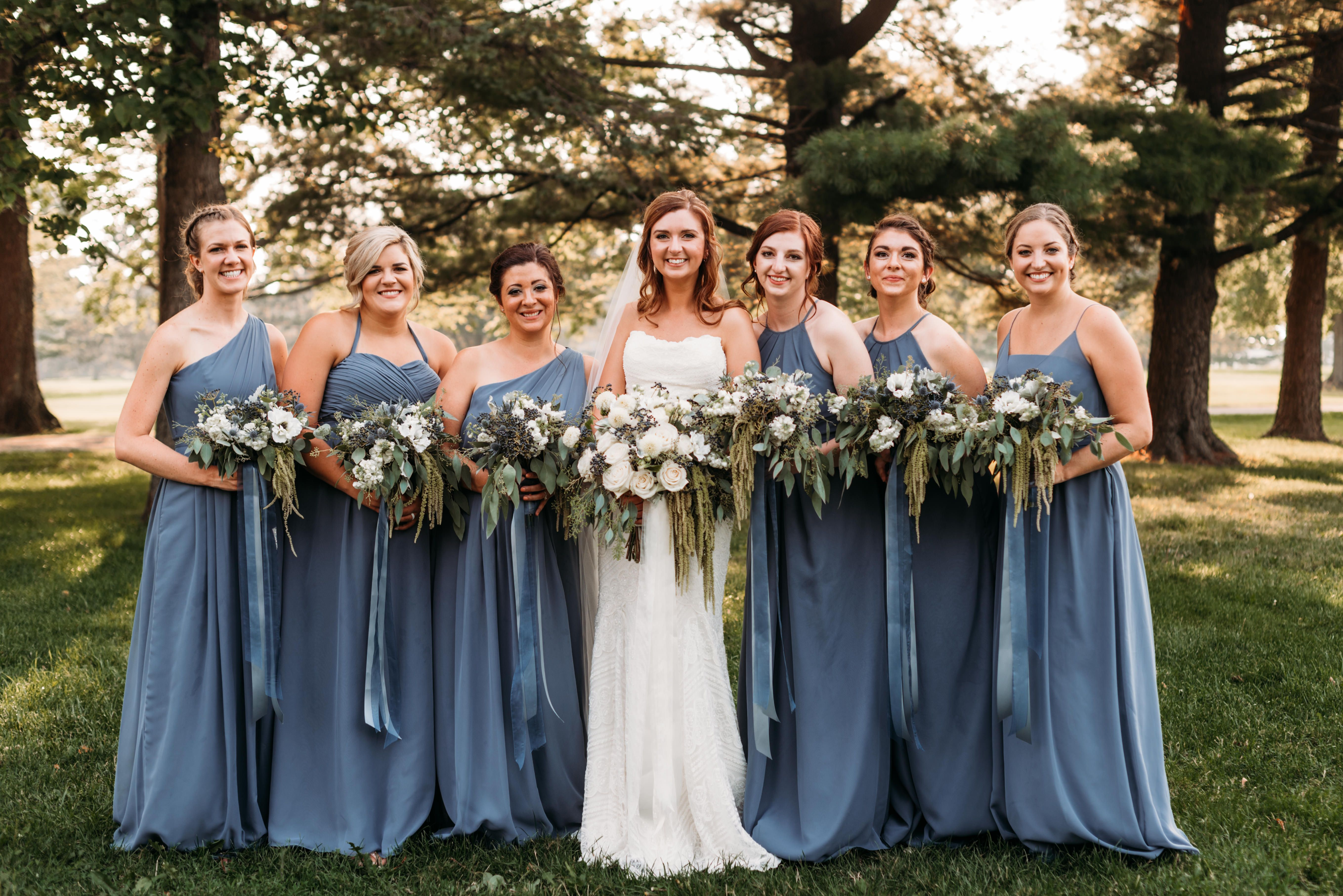 Slate Blue Dusty Blue Bridal Party Cheap Bridesmaid Dresses Uk Slate Blue Bridesmaid Dresses Slate Blue Wedding
