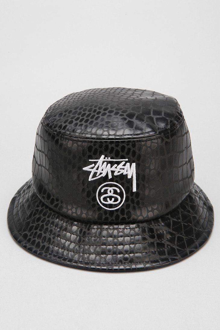 9e9f605abee98 Stussy Croc Faux-Leather Bucket Hat