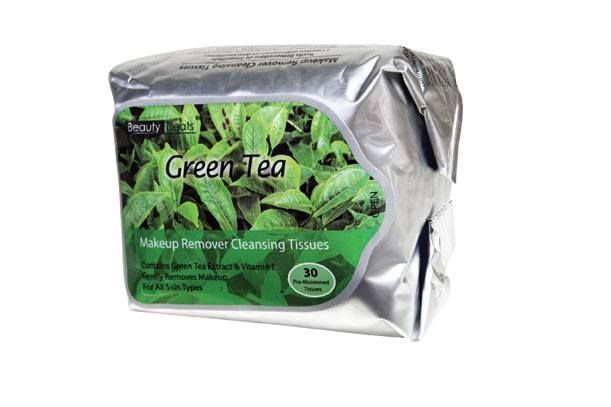 Beauty Treats Make Up Cleansing Tissues 30 Count Green Tea