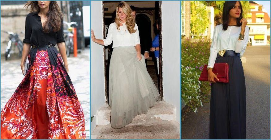 3b54248d8 Maxi faldas con camisa, ¡perfecta combinación! | Diseño de Modas ...