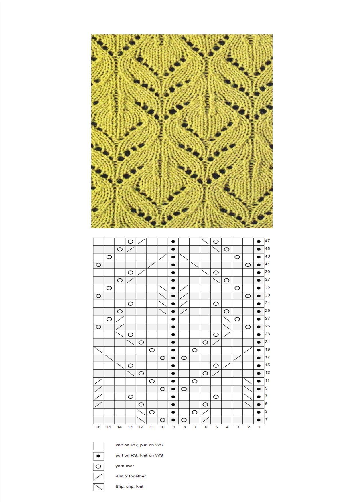 Pin de Светлана Мамедова en Вязание | Pinterest | Dos agujas, Puntos ...