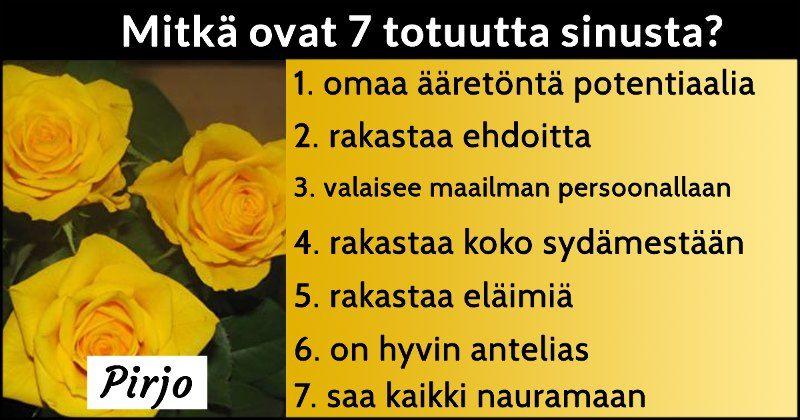 Mitkä ovat 7 totuutta sinusta?
