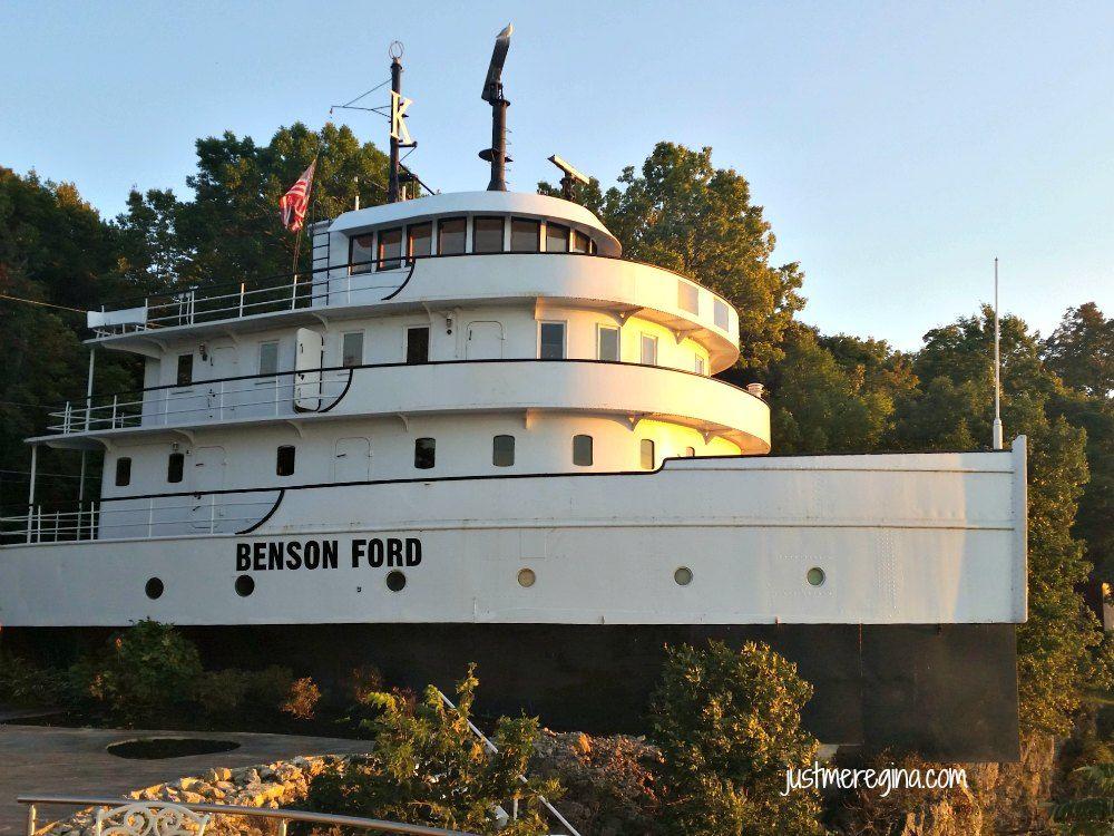 Sneak peak inside the Benson Ford Ship House on Lake Erie at Put-in-Bay, Ohio via Just Me Regina.