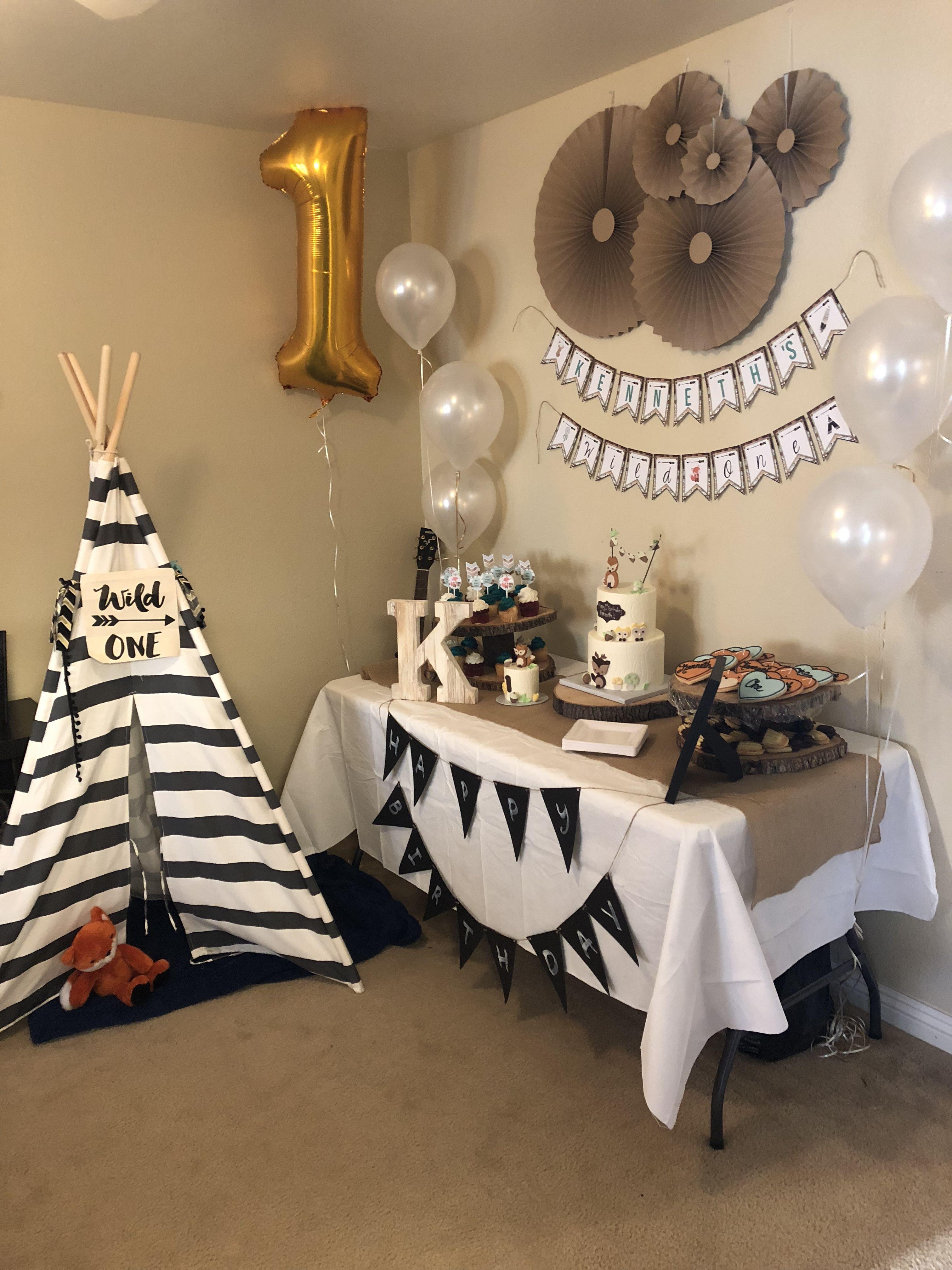 Kenneth S Wild One Birthday Party Wild One Birthday Party Boy Birthday Party Themes 1st Boy Birthday