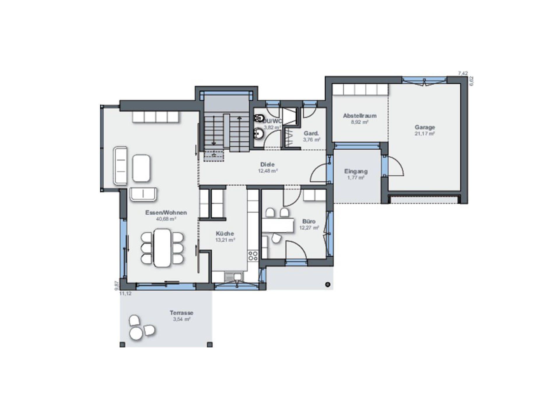 Musterhaus grundriss  Musterhaus Citylife 250 Grundriss EG | moder ev plan | Pinterest ...