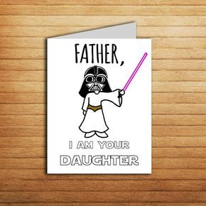 Star wars card fathers day card for dad gift from daughter birthday star wars card fathers day card for dad gift from daughter birthday card darth vader princess leia printable funny father i am your daughter bookmarktalkfo Choice Image