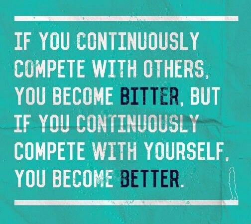 compete with yourself
