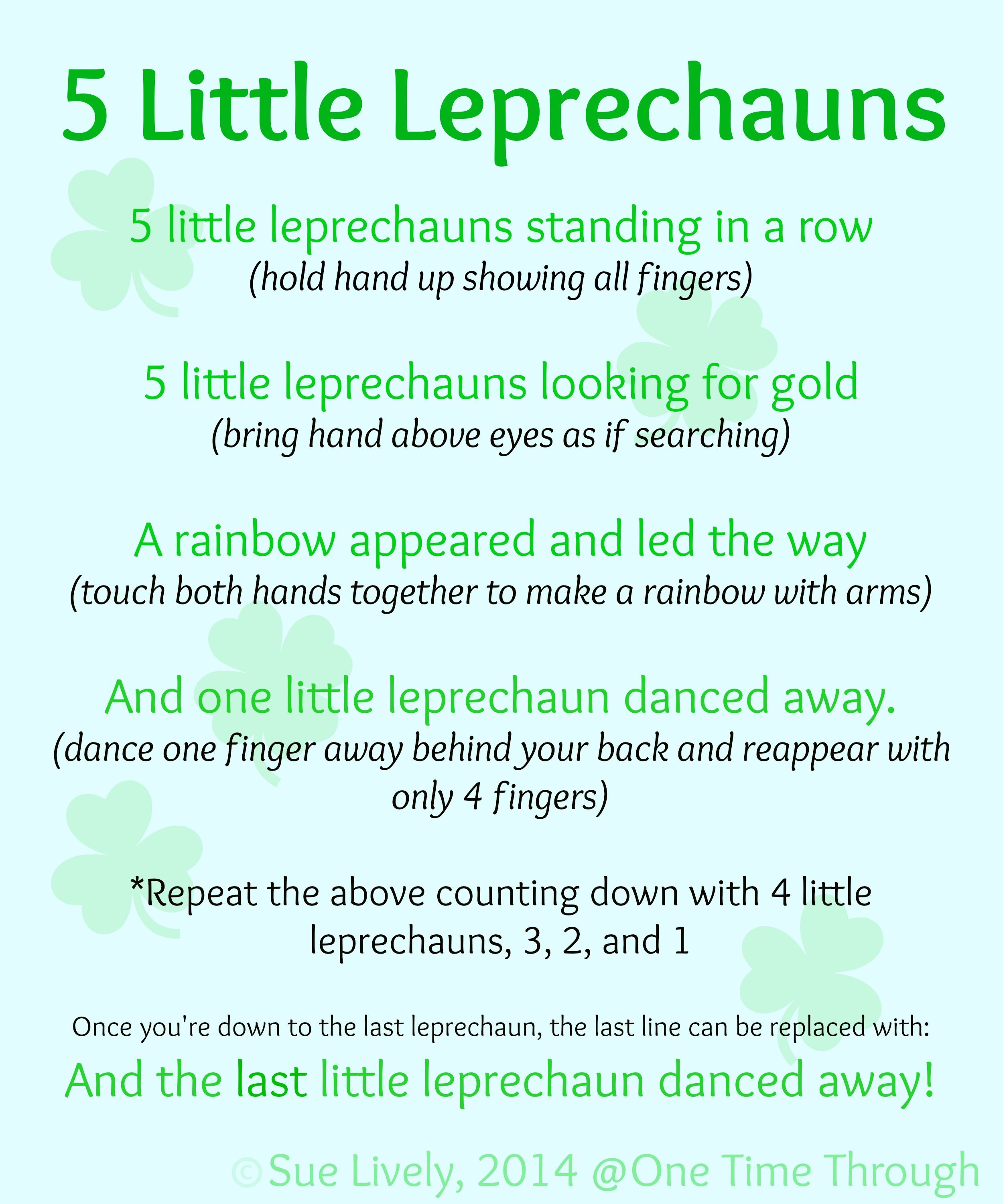 Leprechaun Finger Puppets & Rhyme | Free printable, School and Free