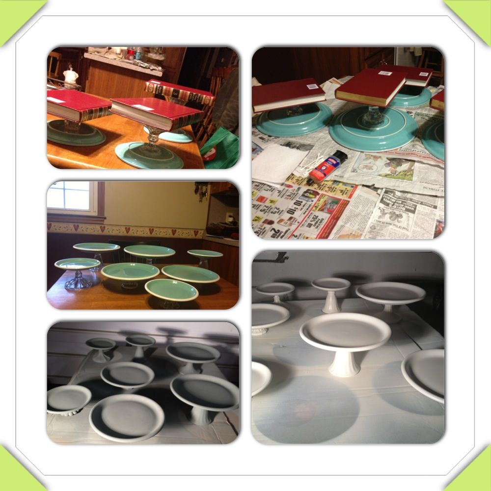 How to make your own cake stands cheap you will need