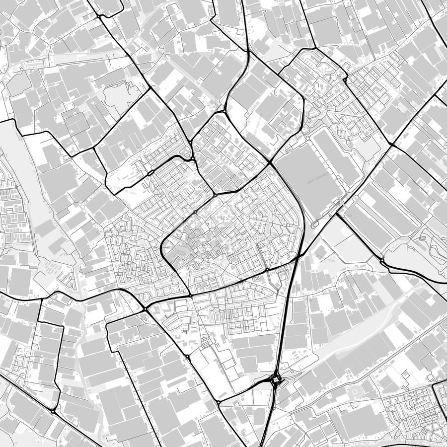 Downtown map of Westland, Netherlands | Maps Vector Downloads ...